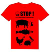 T-shirt Marche pour la fermeture des abattoirs