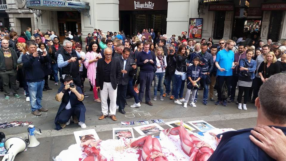Photo de la Marche pour la fermeture des abattoirs 2015 à Londres