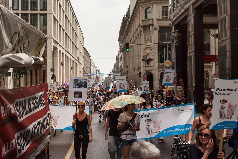 Photo de la Marche pour la fermeture des abattoirs 2015 à Berlin