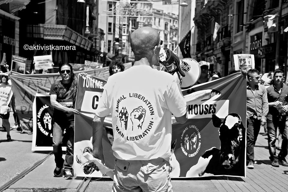 Photo de la Marche pour la fermeture des abattoirs 2015 à Istanbul
