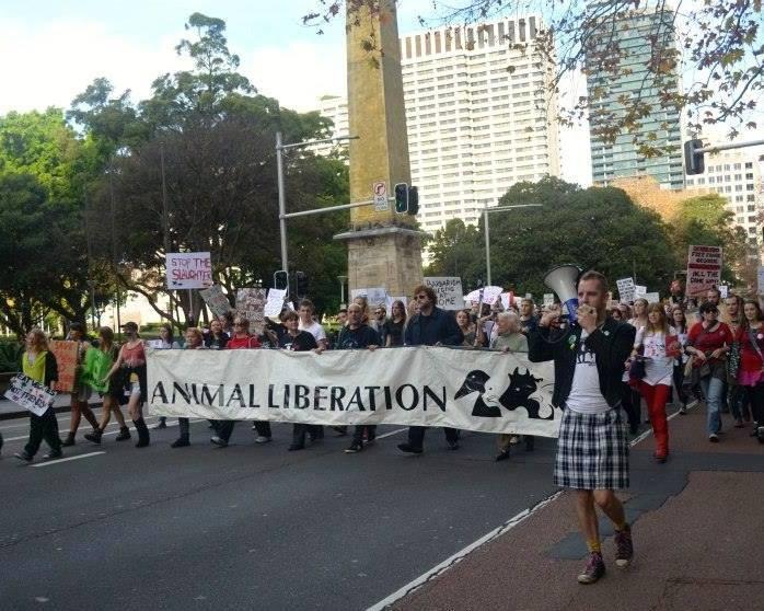 Photo de la Marche pour la fermeture des abattoirs 2015 à Sydney