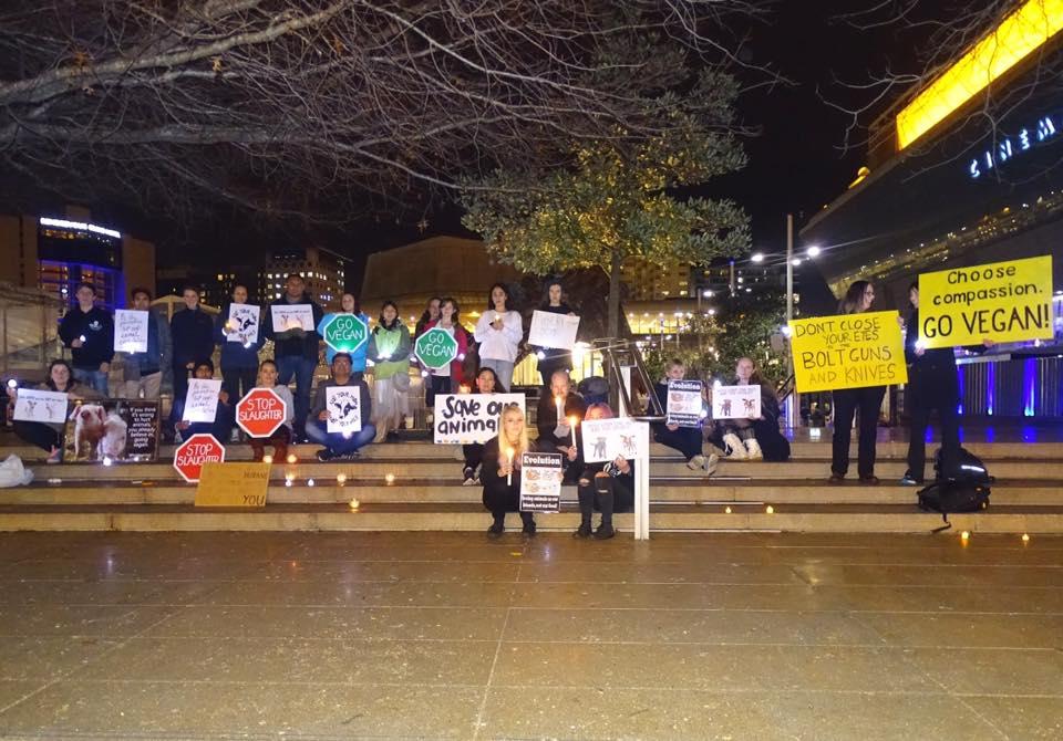 Photo de la Marche pour la fermeture des abattoirs 2016 à Auckland