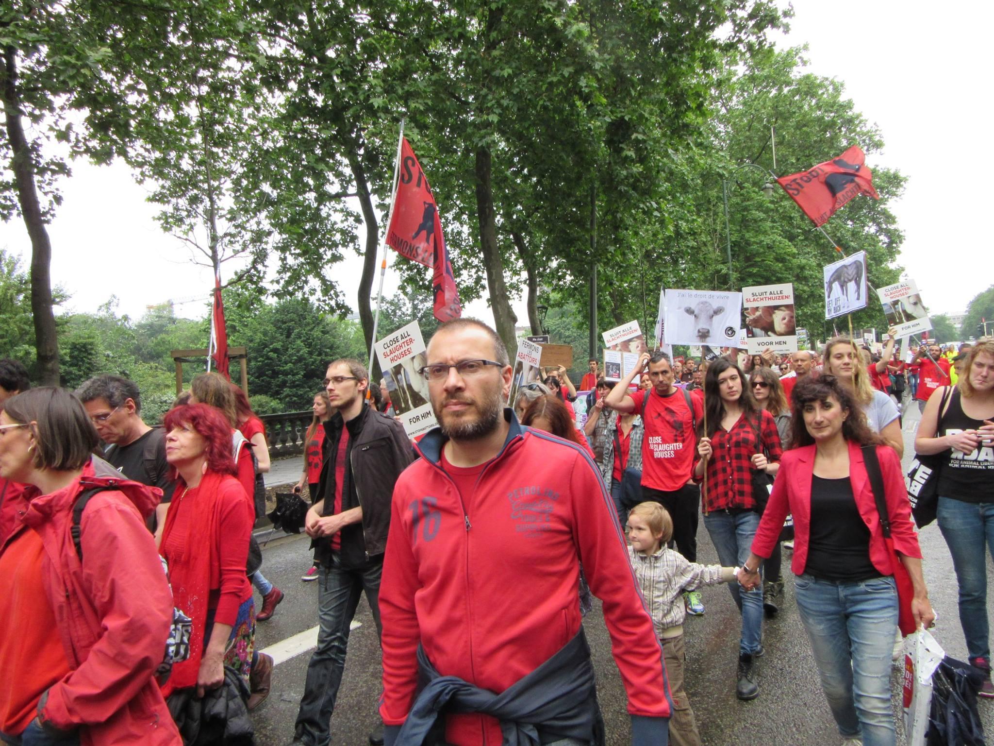 Photo de la Marche pour la fermeture des abattoirs 2016 à Bruxelles