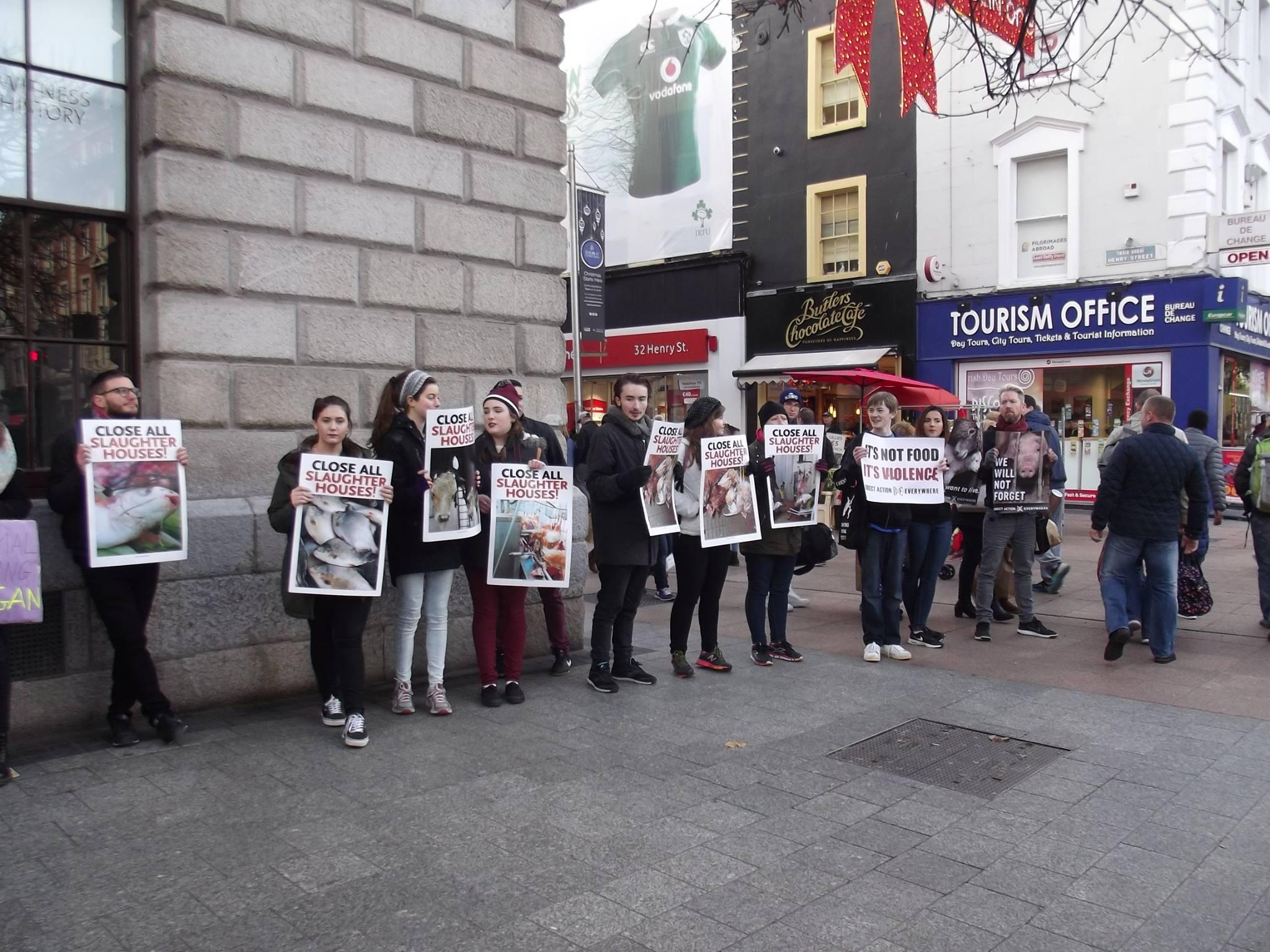 Photo de la Marche pour la fermeture des abattoirs 2016 à Dublin