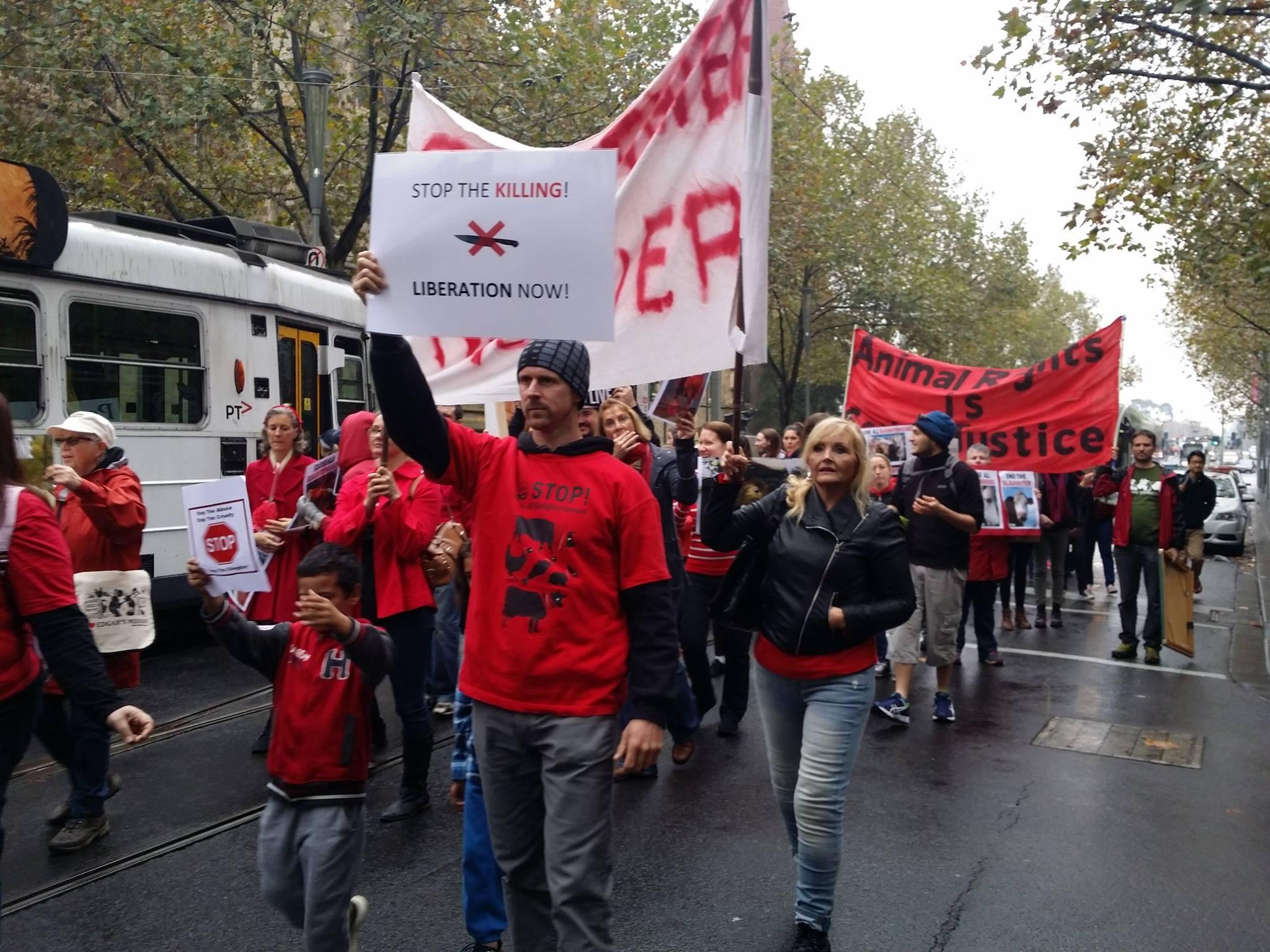 Photo de la Marche pour la fermeture des abattoirs 2016 à Melbourne