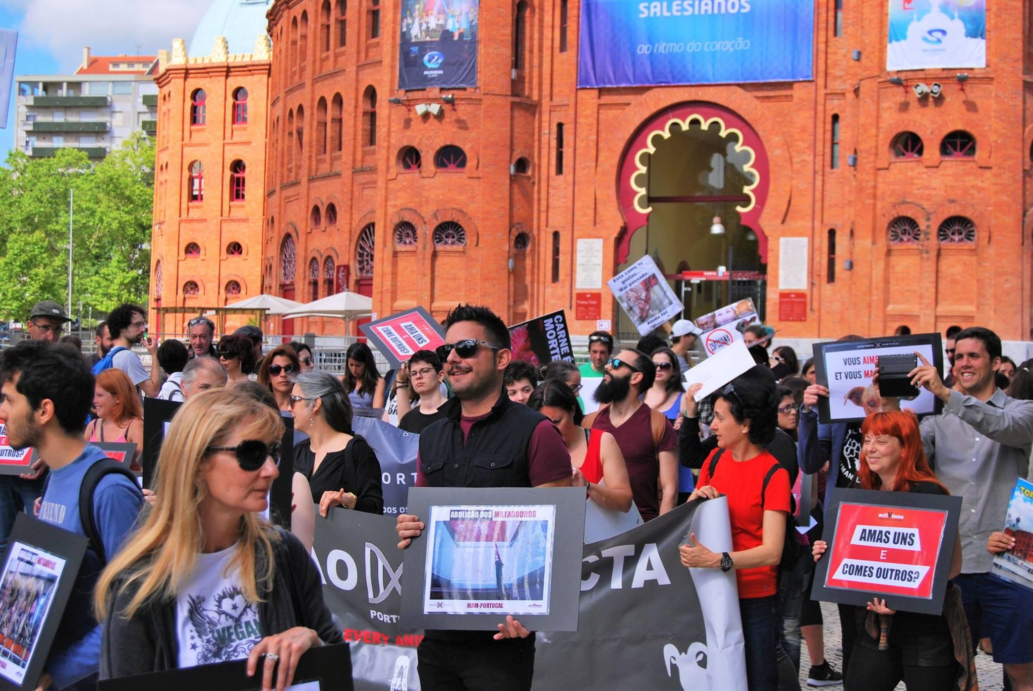 Photo de la Marche pour la fermeture des abattoirs 2016 à Lisbonne