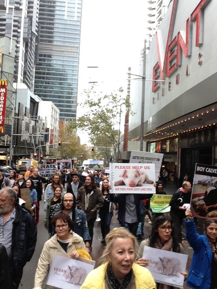 Photo de la Marche pour la fermeture des abattoirs 2016 à Sydney