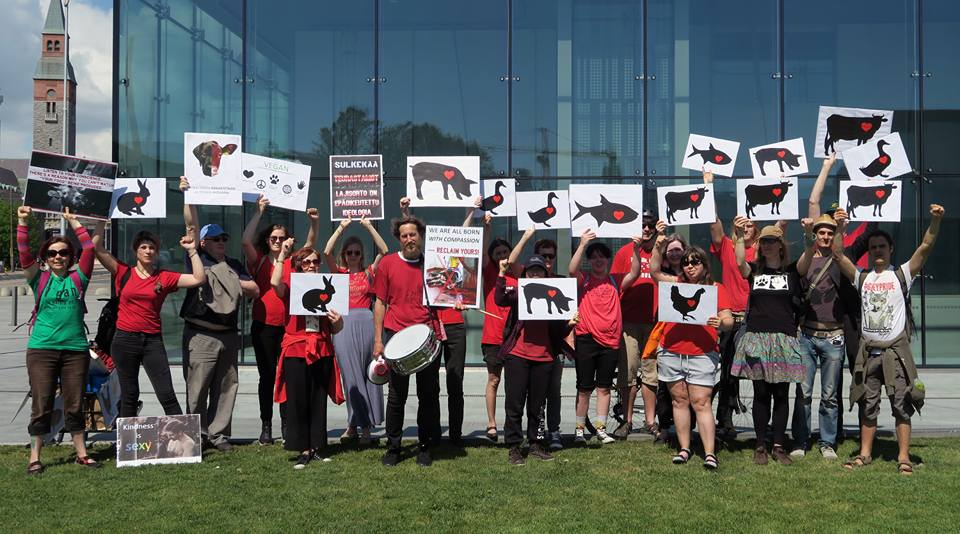 Action contre les abattoirs à Helsinki