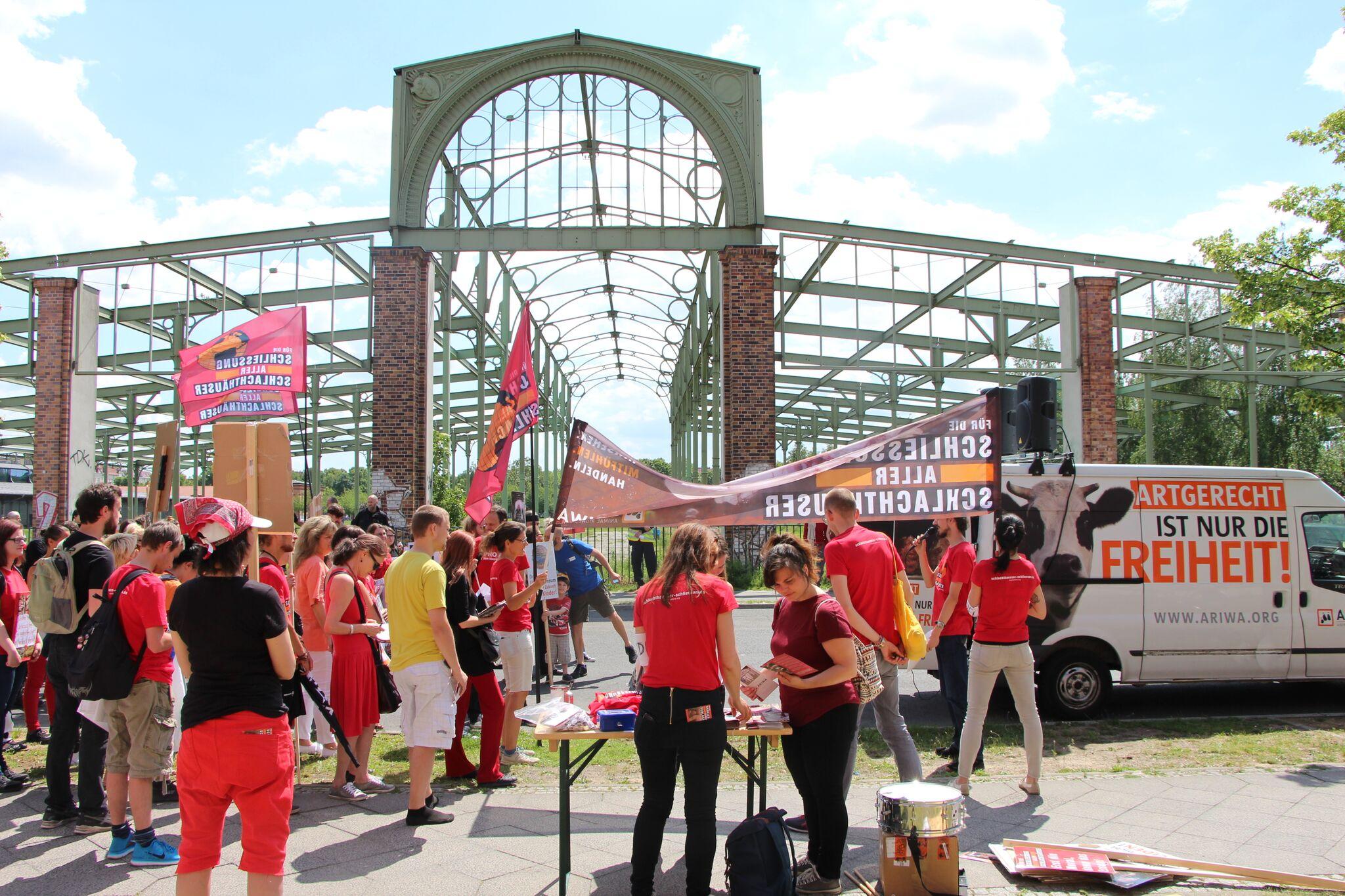 Photo de la Marche pour la fermeture des abattoirs 2017 à Berlin