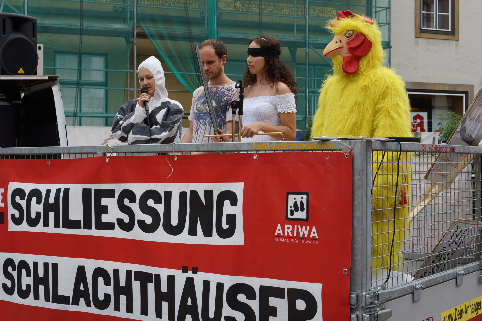 Photo de la Marche pour la fermeture des abattoirs 2016 à Bielfeld