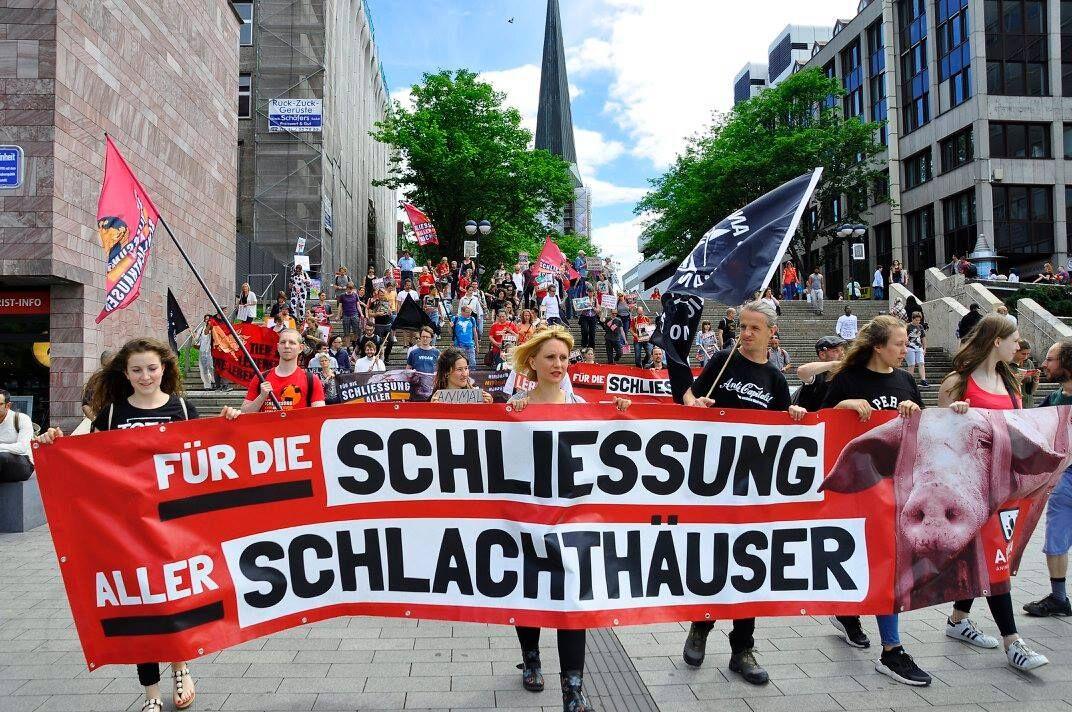 Photo de la Marche pour la fermeture des abattoirs 2017 à Dortmund