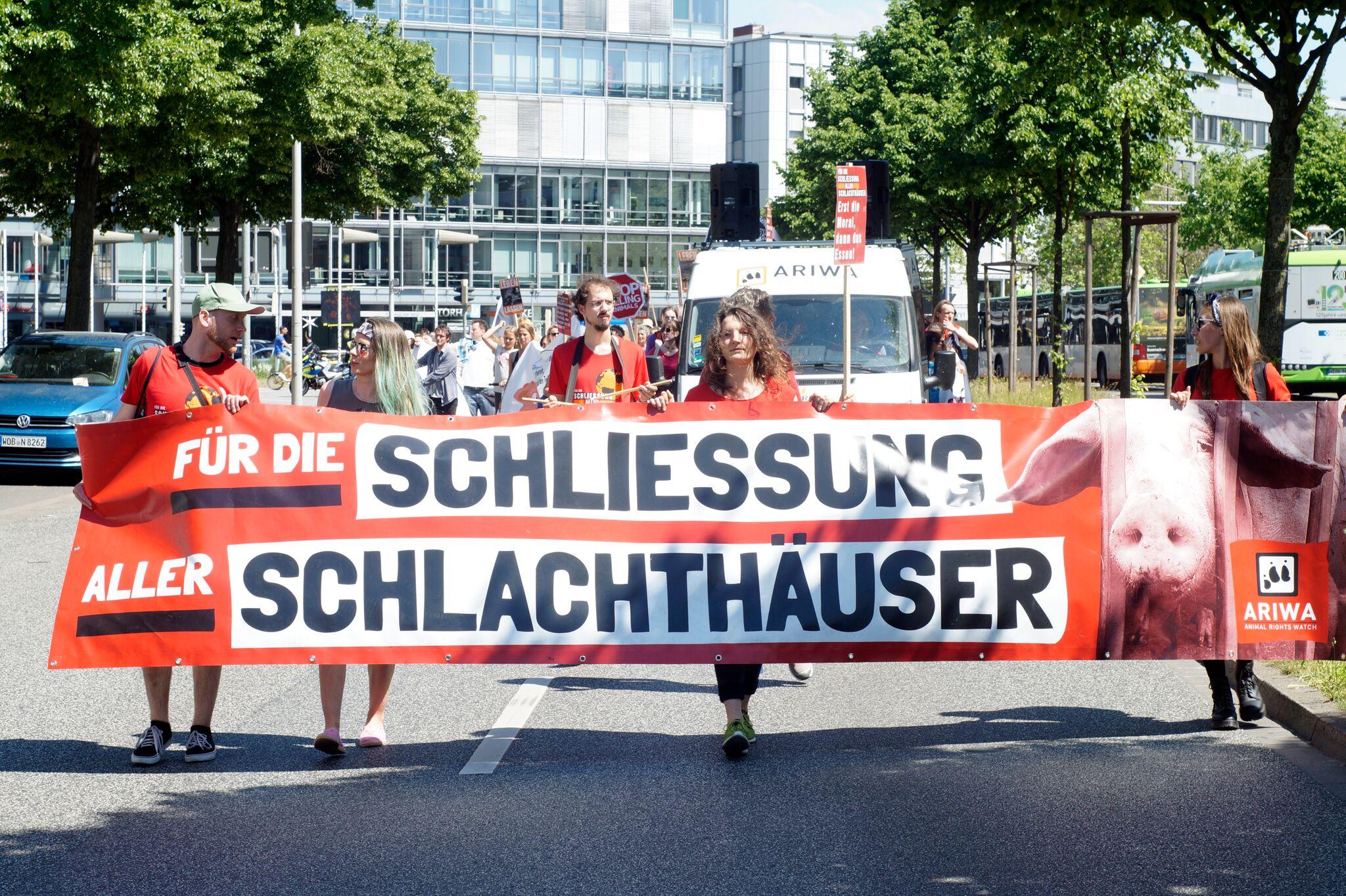 Photo de la Marche pour la fermeture des abattoirs 2017 à Hannover