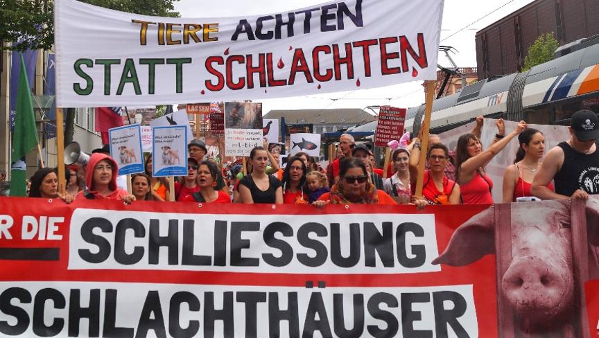 Photo de la Marche pour la fermeture des abattoirs 2017 à Mannheim