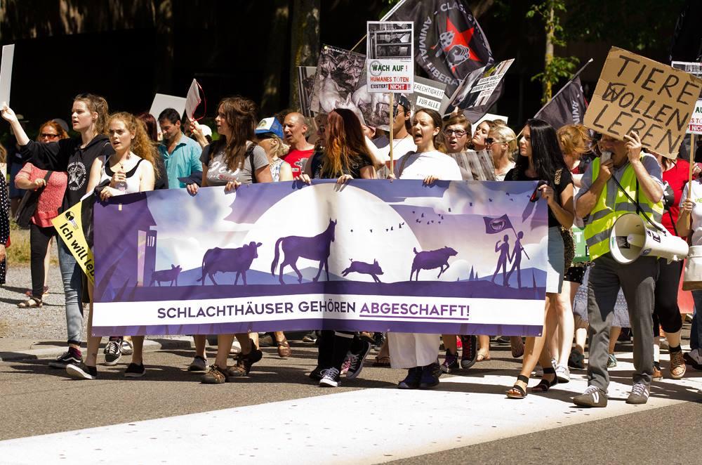 Photo de la Marche pour la fermeture des abattoirs 2017 à Zurich