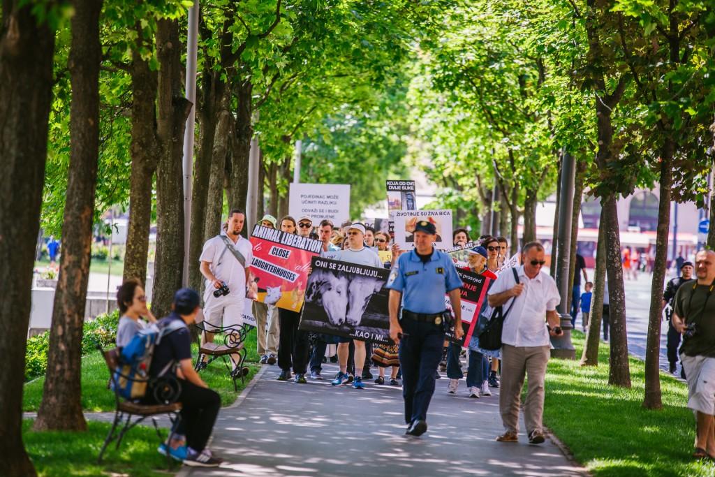 Photo de la Marche pour la fermeture des abattoirs 2017 à Zagreb
